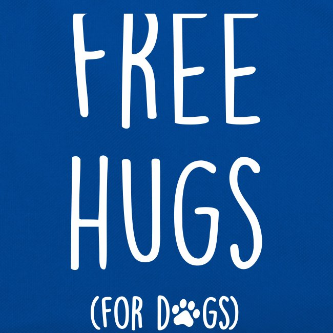 free hugs for dogs - Retro Tasche