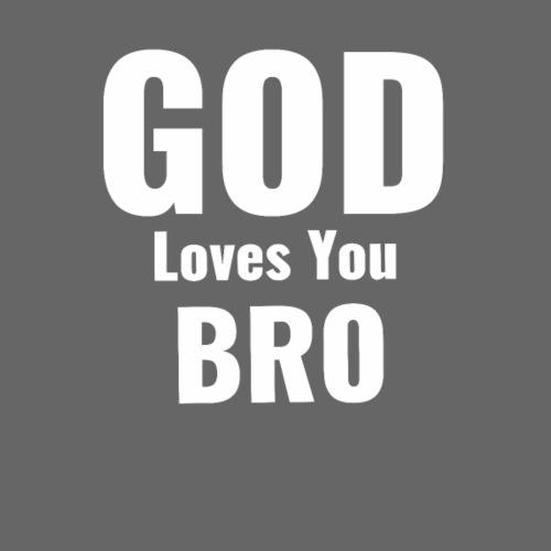 God loves you Bro - Retro Tasche