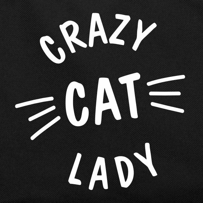 Vorschau: Crazy Cat Lady meow - Retro Tasche