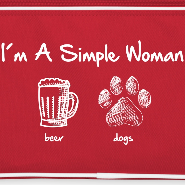 simple woman beer white - Retro Tasche
