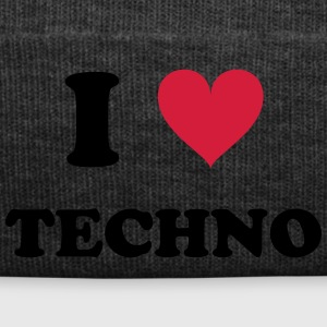 I LOVE TECHNO - Wintermütze