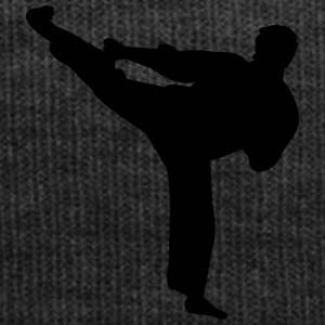 Kung fu fighter silhouette 4 - Bonnet d'hiver