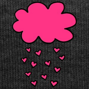 Cloud with hearts, Valentines Day, Love, spring - Winter Hat