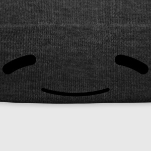 Wide grin Kawaii comic face Emojy - Winter Hat