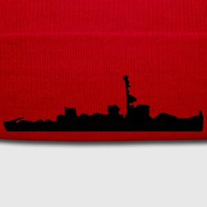 Vector Navy warship Silhouette - Winter Hat