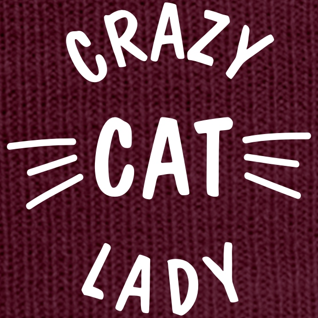Vorschau: Crazy Cat Lady meow - Wintermütze