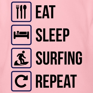 Eat Sleep Surfing Gjenta - Økologisk kortermet baby-body