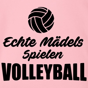 volleyball Shirt - echte Mädels spielen Volleyball - Baby Bio-Kurzarm-Body