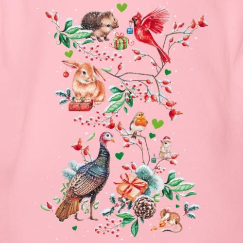 Happy vegan holidays! - Organic Short-sleeved Baby Bodysuit