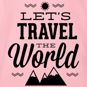 let s travel the world - Organic Short-sleeved Baby Bodysuit