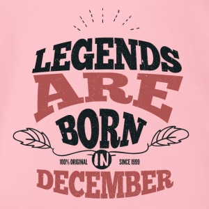 Legends born born birthday gift Young - Organic Short-sleeved Baby Bodysuit