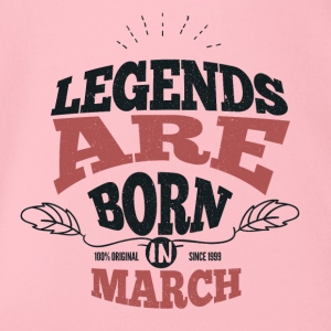 Legends March Born Birthday Gift Young - Organic Short-sleeved Baby Bodysuit
