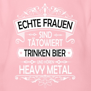 Heavy Metal Bier tattoo Frauen - Baby Bio-Kurzarm-Body