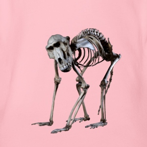 A Baboon Skeleton by Wild World Designs (WWD) - Organic Short-sleeved Baby Bodysuit