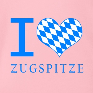 I Love Zugspitze - Organic Short-sleeved Baby Bodysuit