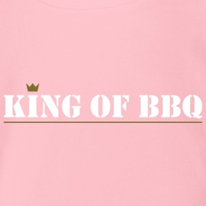 king of bbq - Organic Short-sleeved Baby Bodysuit