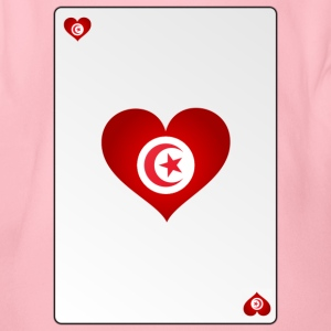 Playing Card Tunisia Heart Ass Heart - Organic Short-sleeved Baby Bodysuit