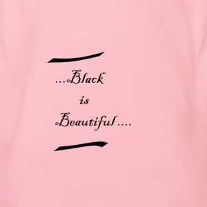 Black is beautiful - Organic Short-sleeved Baby Bodysuit