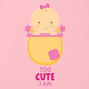Too Cute I Am - söt baby - Ekologisk kortärmad babybody
