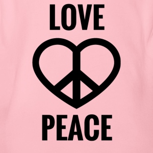 LOVE AND PEACE - Baby Bio-Kurzarm-Body