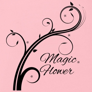 Magic Flower schwarz - Baby Bio-Kurzarm-Body