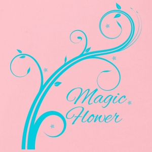 Magic Flower blau - Baby Bio-Kurzarm-Body
