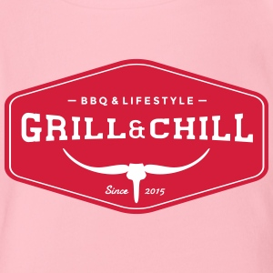Grill and Chill / BBQ and Lifestyle Origin Logo - Baby Bio-Kurzarm-Body