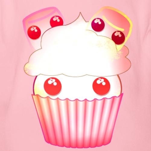 harajuku kawaii cupcake muffins med marshmallows - Organic Short-sleeved Baby Bodysuit