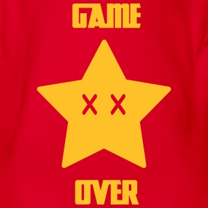 Game Over - Mario Star - Organic Short-sleeved Baby Bodysuit