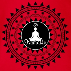 Namaste ornament - Organic Short-sleeved Baby Bodysuit