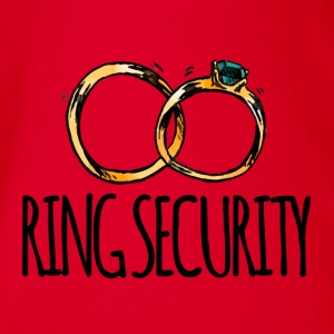 Hochzeit / Heirat: Ring Security - Baby Bio-Kurzarm-Body