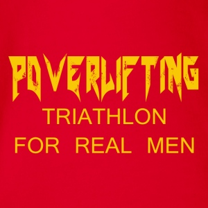 TRIATHLON FOR REAL MEN - Body ecologico per neonato a manica corta