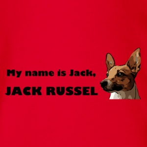 My name is jack Russell - Organic Short-sleeved Baby Bodysuit
