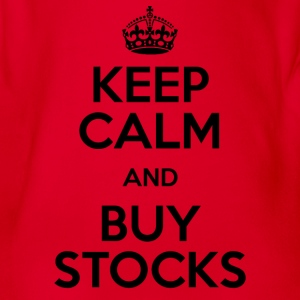 KEEP CALM AND BUY STOCKS - Organic Short-sleeved Baby Bodysuit