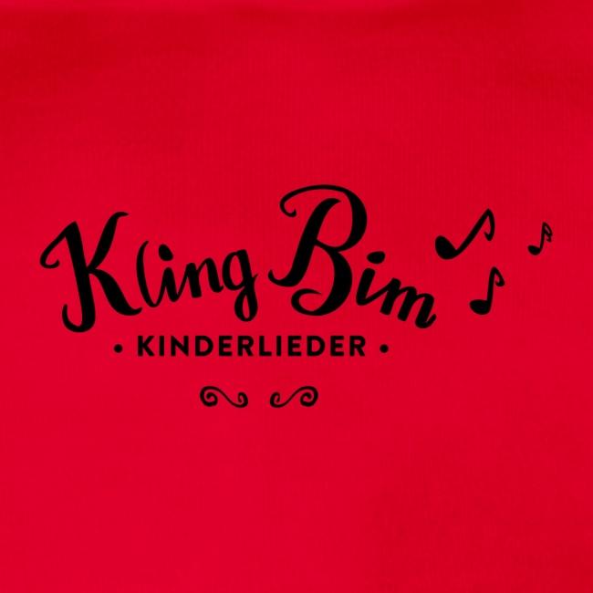 Sumpfdotterdino mit schwarzem Logo - KlingBim