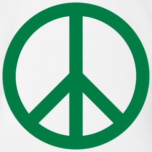 Peace Sign Filled Green - Baby Bio-Kurzarm-Body