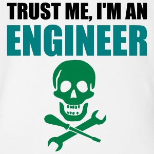 Trust me, I'm an Engineer. - Organic Short-sleeved Baby Bodysuit