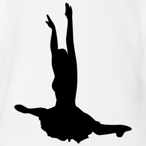 Vector Ballet dancer Silhouette - Organic Short-sleeved Baby Bodysuit