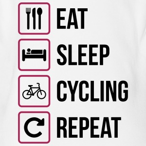 Eat Sleep Cycling Repeat - Organic Short-sleeved Baby Bodysuit