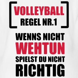 Volleyball Shirt - Beachvolleyball Shirt - Team - Baby Bio-Kurzarm-Body