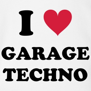 I LOVE GARAGE TECHNO - Organic Short-sleeved Baby Bodysuit