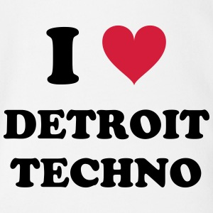 I LOVE DETROIT TECHNO - Organic Short-sleeved Baby Bodysuit
