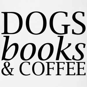 Dogs Books and Coffee - Organic Short-sleeved Baby Bodysuit