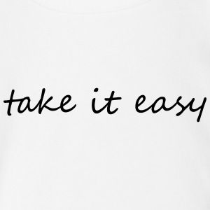 Take it easy - Baby bio-rompertje met korte mouwen