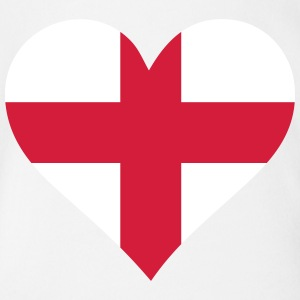 A Heart For England - Organic Short-sleeved Baby Bodysuit