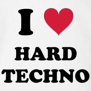 I LOVE HARD TECHNO - Baby Bio-Kurzarm-Body