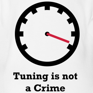 Tuning is not a Crime - Organic Short-sleeved Baby Bodysuit
