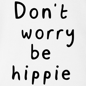 Don 'worry be hippie - Organic Short-sleeved Baby Bodysuit