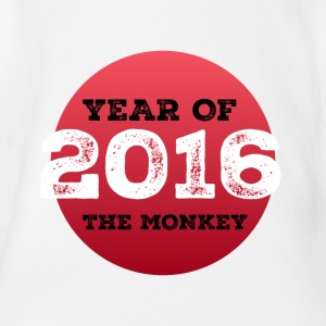 2016 year of the monkey - Organic Short-sleeved Baby Bodysuit