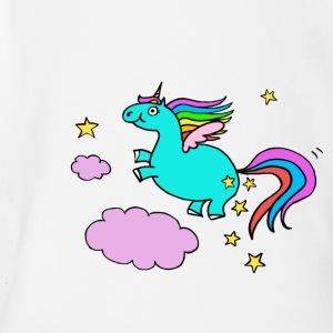 Pegasus unicorn - Organic Short-sleeved Baby Bodysuit